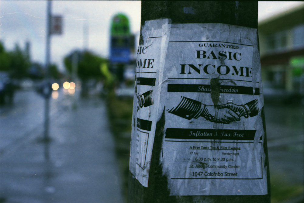 Flyer for a basic income event